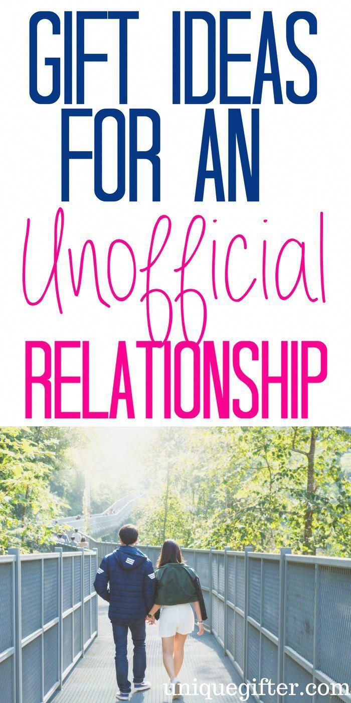 Gift Ideas for an unofficial relationship | Valentine