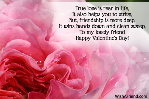 True love is rear in life, It, Valentines Day Message For Friends