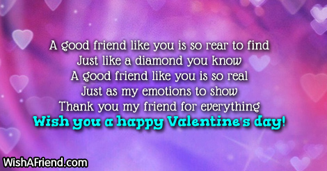 A good friend like you is, Valentines Day Message For Friends