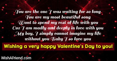 You are the one I was, Valentine