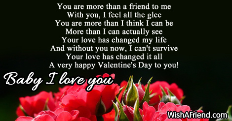 You are more than a friend, Valentine