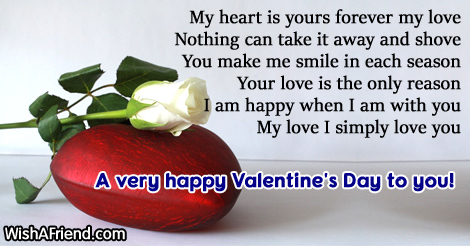 My heart is yours forever, Valentine