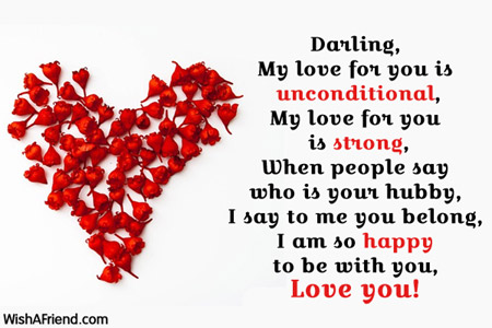 Darling, My love for you is unconditional, My, Love Message For ...