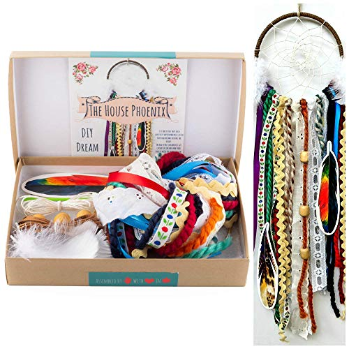 Amazon: Colorful Make Your Own Dream Catcher Craft Kit Do It ...
