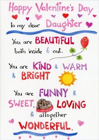 Happy Valentines Day To My Daughter Quotes & Images 2017 ...