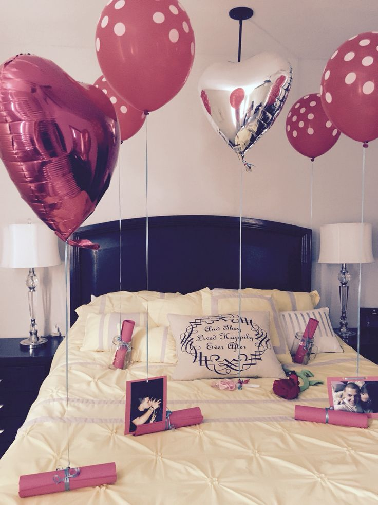 Balloons perfect idea for Valentine. Details for your husband ...