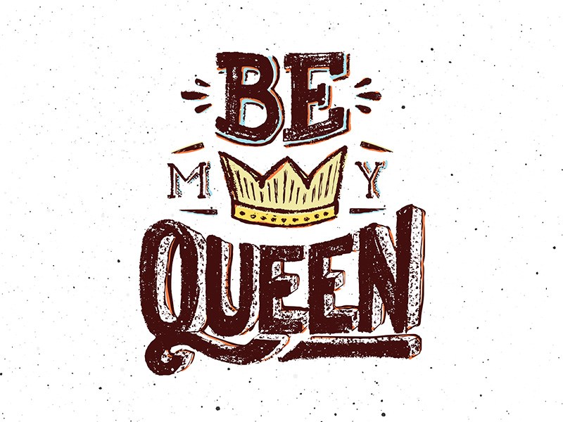 Be My Queen. Vintage Poster For Valentines Day by Yurlick ...