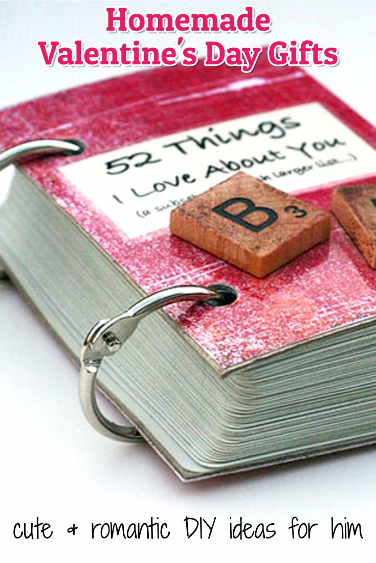 26 Homemade Valentine Gift Ideas For Him - DIY Gifts He Will Love ...