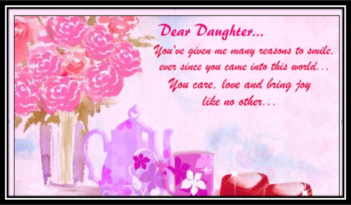 Greeting Card Special Message For Daughter Birthday Invitations ...