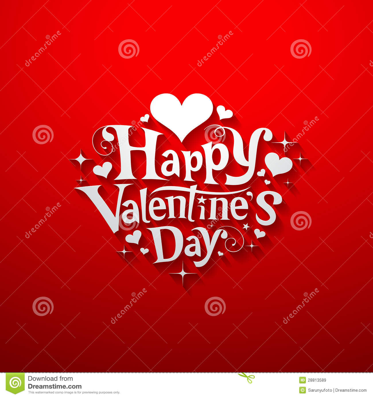 Happy Valentine Day Message Banner Stock Vector - Illustration of ...