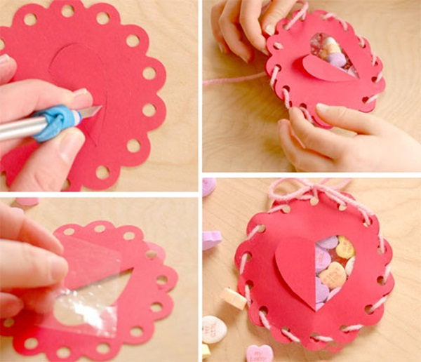 Homemade Valentine gifts - Cute wrapping ideas and small candy boxes