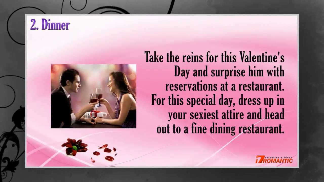 Romantic Valentines Day Ideas For Him - Romantic Ideas for ...