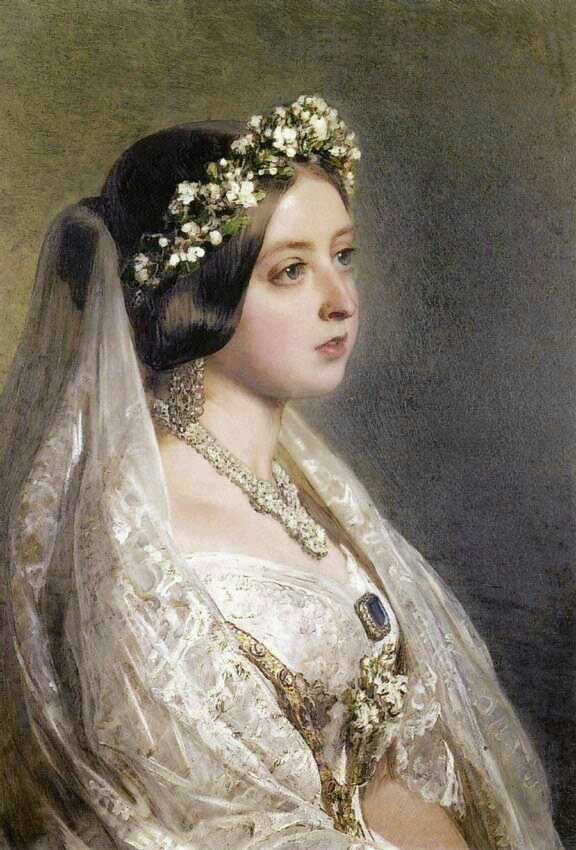 Wedding Day. Queen Victoria | Haarschmuck /Frisuren | Pinterest ...