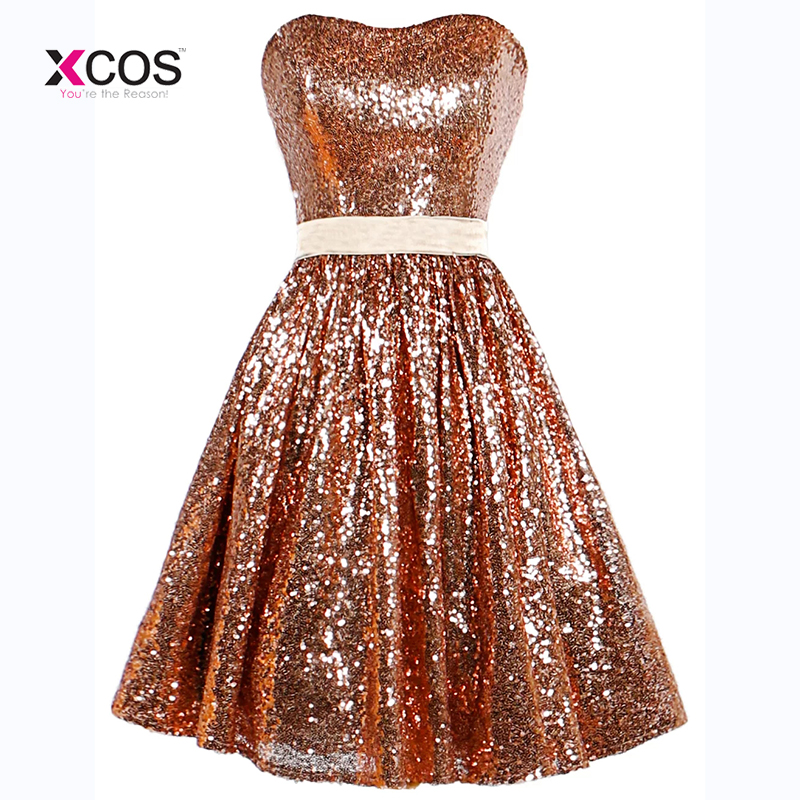 Abendkleider Full Sequins Short Prom Dresses Sweetheart Vestido De ...