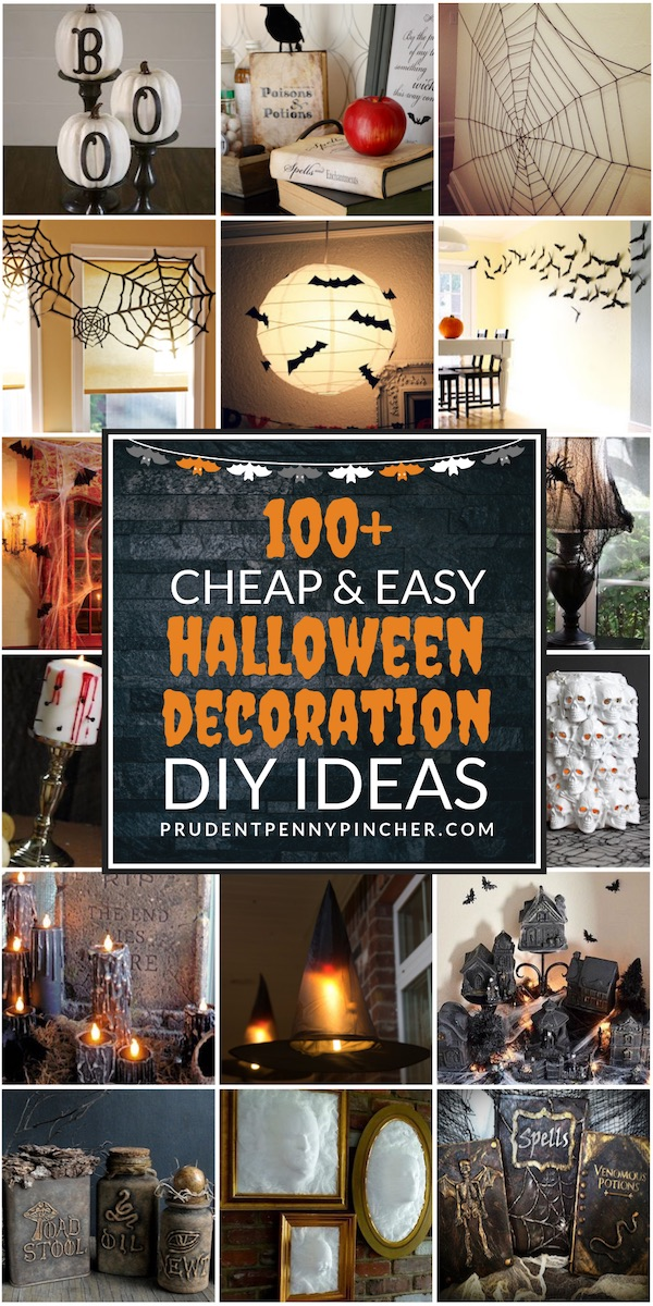 100 Cheap and Easy DIY Halloween Decor Ideas - Prudent Penny Pincher