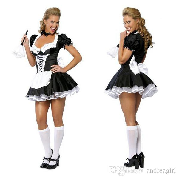 2019 !! Late Nite Maid Sexy Halloween Costumes Party Costume Women ...