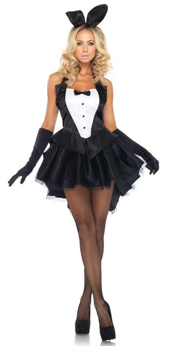 Leg Avenue Tux & Tails Bunny Sexy Adult Costume - Candy Apple Costumes