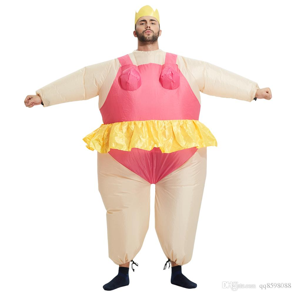 New Pink Ballet Christmas Costume Blowup Halloween Inflatable ...