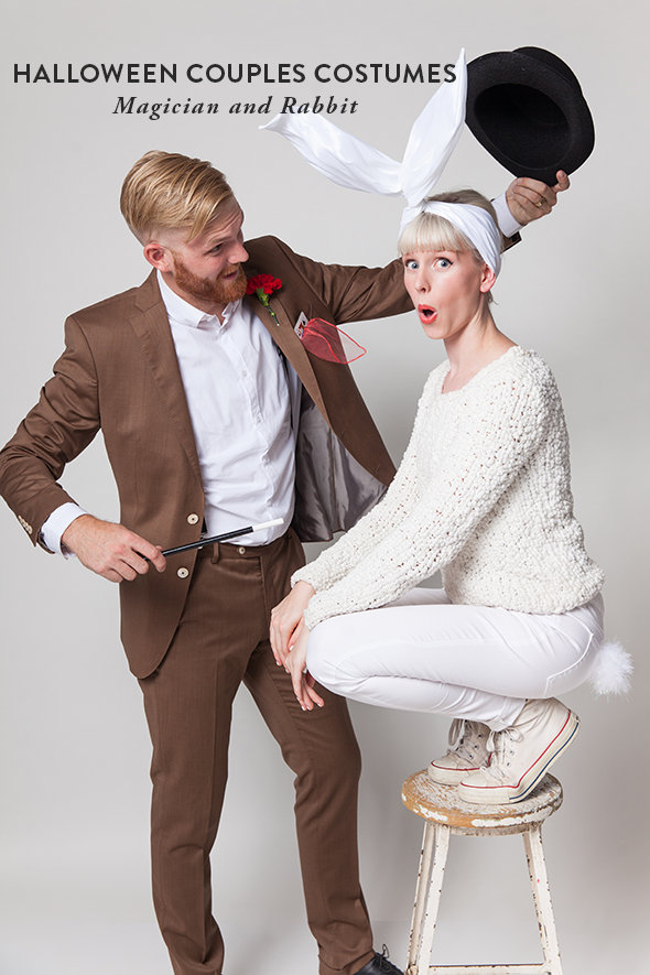Halloween Couples Costumes: Magician and Rabbit - Say Yes
