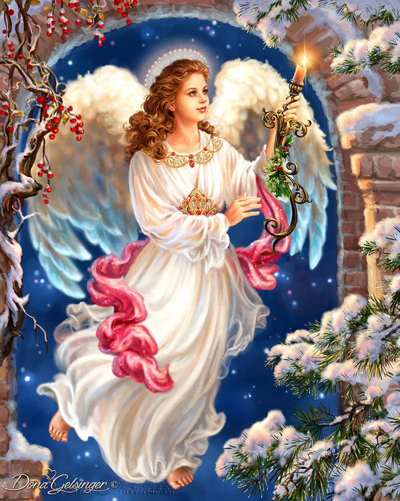 Angels by Dona Gelsinger #angel | ART * Xmas Pictures ...