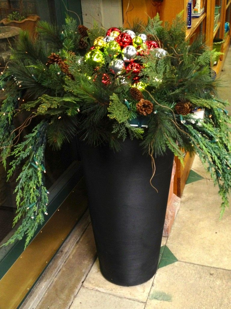 christmas ornament planter | Home For The Holidays ...