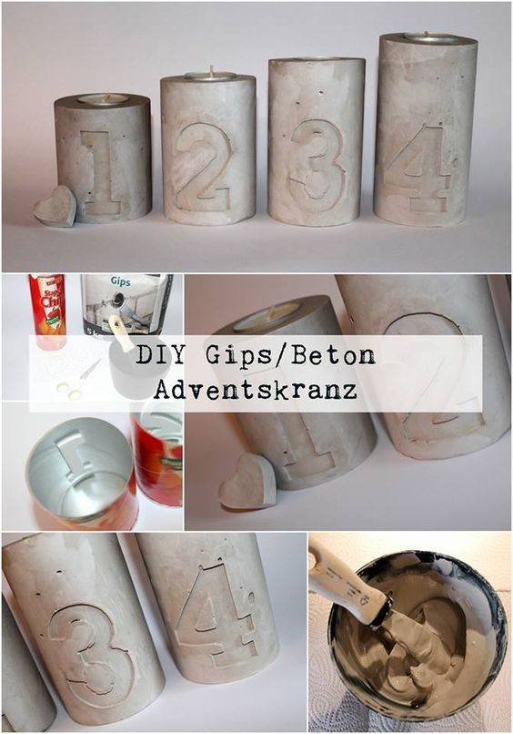 Pinterest adventskranz beton – Weihnachten in Europa
