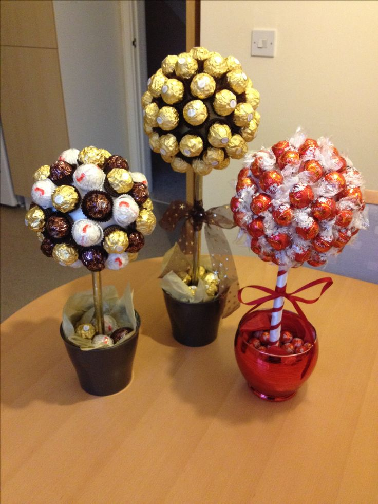 Sweet Trees made with Ferrero Roche and Lindor Chocolates ...